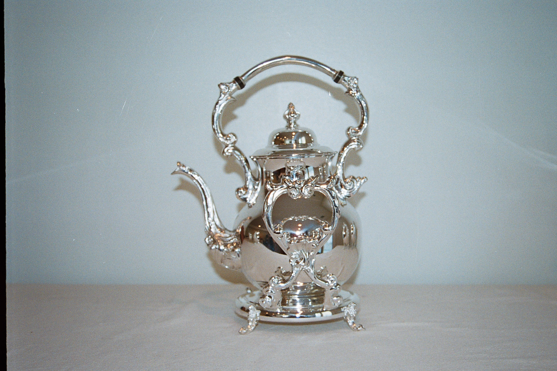 Silver Teapot After